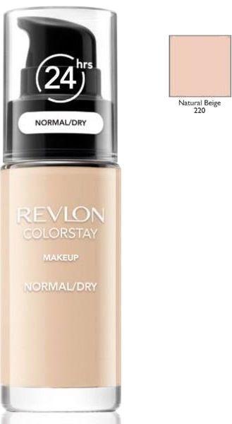 Revlon ColorStay 220 Natural Beige 30ml podkład z pompką do skóry normalnej i suchej z kompleksem SoftFlex [W]