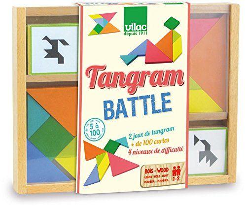 Vilac Tangram w 2-częściowym zestawie dla dzieci od 5 lat