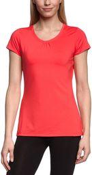 Columbia Damska koszulka funkcyjna z krótkim rękawem, Trail Crush Short Sleeve Top czerwony czerwony (Red Hibiscus) XL