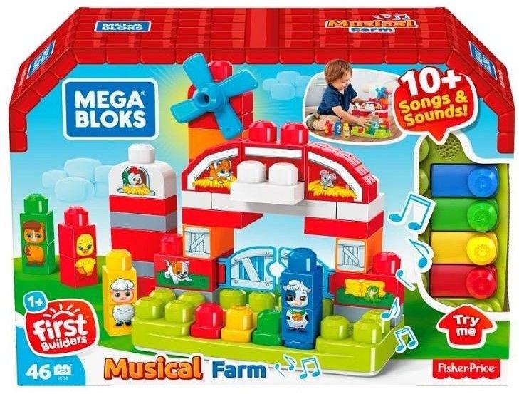 Mega Bloks - Zestaw klocków muzyczna farma GCT50