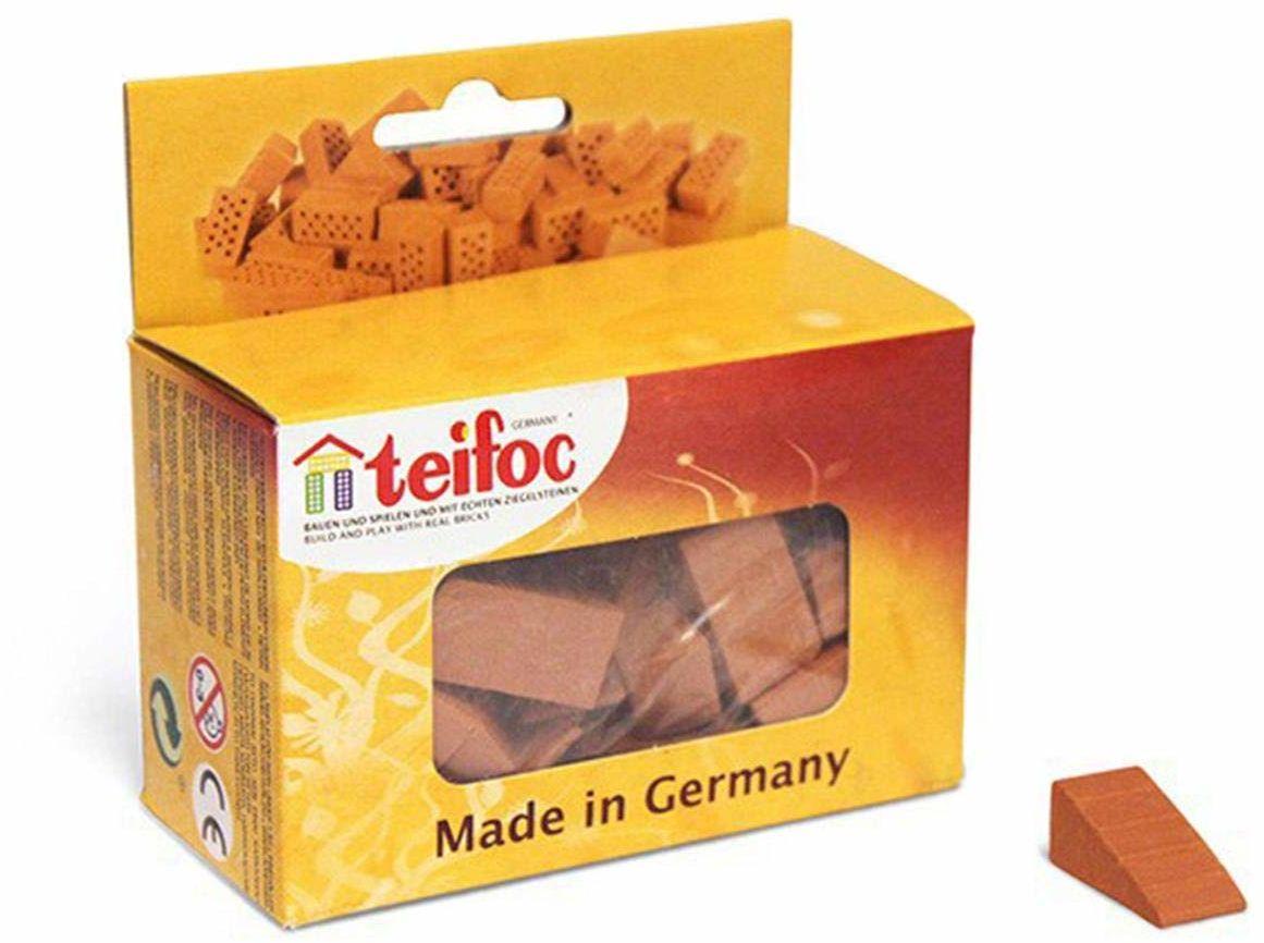 Teifoc T906611 zestaw konstrukcji z cegłami trójkątnymi, czerwony