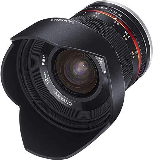 Samyang 12 mm F2.0 APS-C Fuji X czarny - APS-C szerokokątny obiektyw ogniskowy do Fuji X, ręczna ostrość, do aparatów X-T4, X-T30, X-T200, X-Pro3, X-A7, X-A5, X-T100, X-T3, X-E3