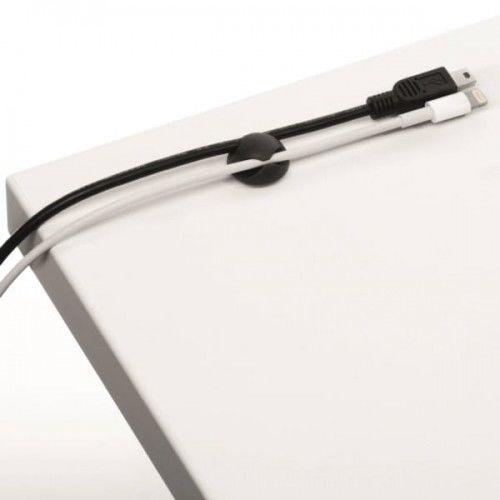Klips samoprzylepny na 2 kabele Durable CAVOLINE Clip2 grafitowy 6szt. /503837/