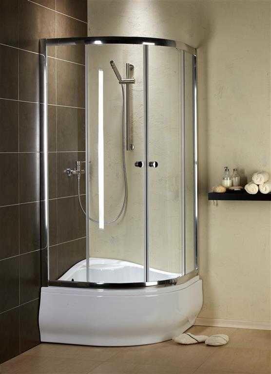 Kabina prysznicowa półokrągła Radaway Premium A 80 szkło Grafitowe wys. 170 cm. 30411-01-05