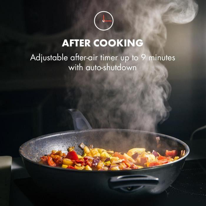 Klarstein Hektor okap kuchenny wyciąg 52 cm wydajność: 530 m/h LED dotykowy panel obsługi szkłoaluminiowy timer czarny stopnie wentylacji aktywnym biały