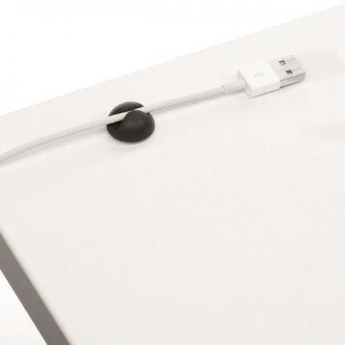 Klips samoprzylepny na 1 kabel Durable CAVOLINE Clip1 grafitowy 6szt. /503737/