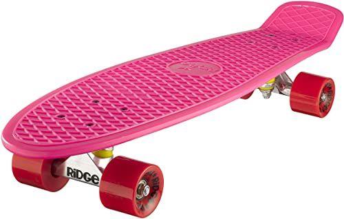 Ridge Deskorolka Big Brother nikiel 69 cm Mini Cruiser, różowa/czerwona