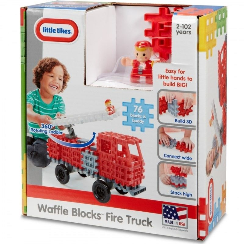 Little Tikes Waffle Blocks Straż pożarna pojazd 644481