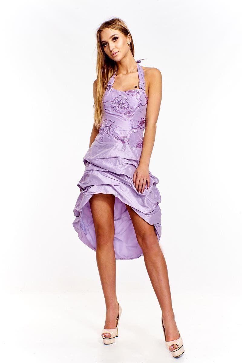 Sukienka FSU115 FIOLETOWY