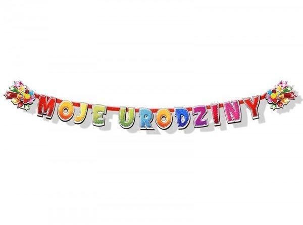 Baner urodzinowy Moje Urodziny 207cm 1szt. BR2