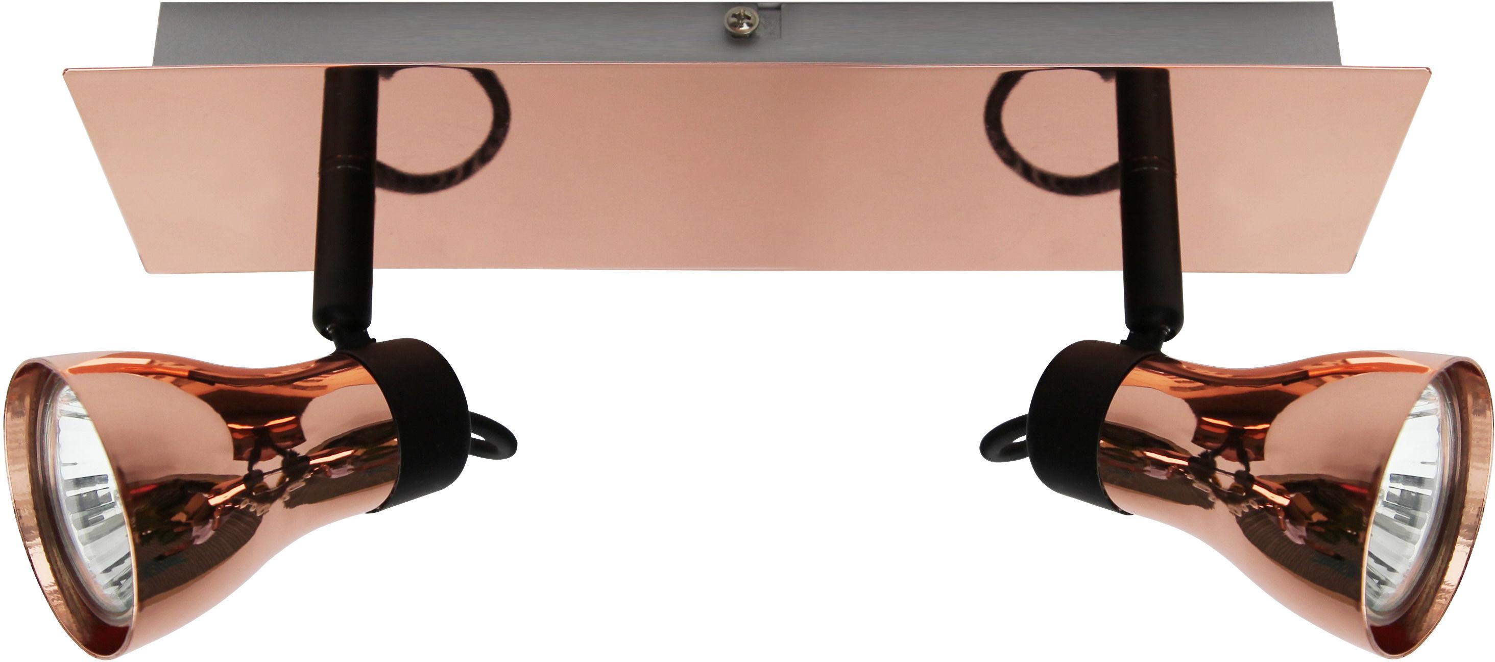 Candellux ANGUS 92-39095 oprawa oświetleniowa spot czarny+miedziany abażurki metalowe 2X50W GU10 31cm