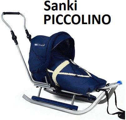 Metalowe sanki dziecięce Piccolino Metalowe sanki Piccolino Adbor z oparciem