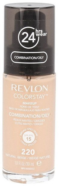 Revlon ColorStay 220 Natural Beige 30ml podkład z pompką do skóry mieszanej i tłustej [W]