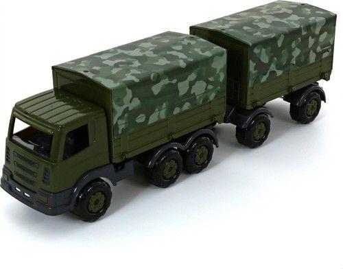 """Wojskowy Samochód ciężarowy z przyczepą i plandeką """"Prestiż"""""""