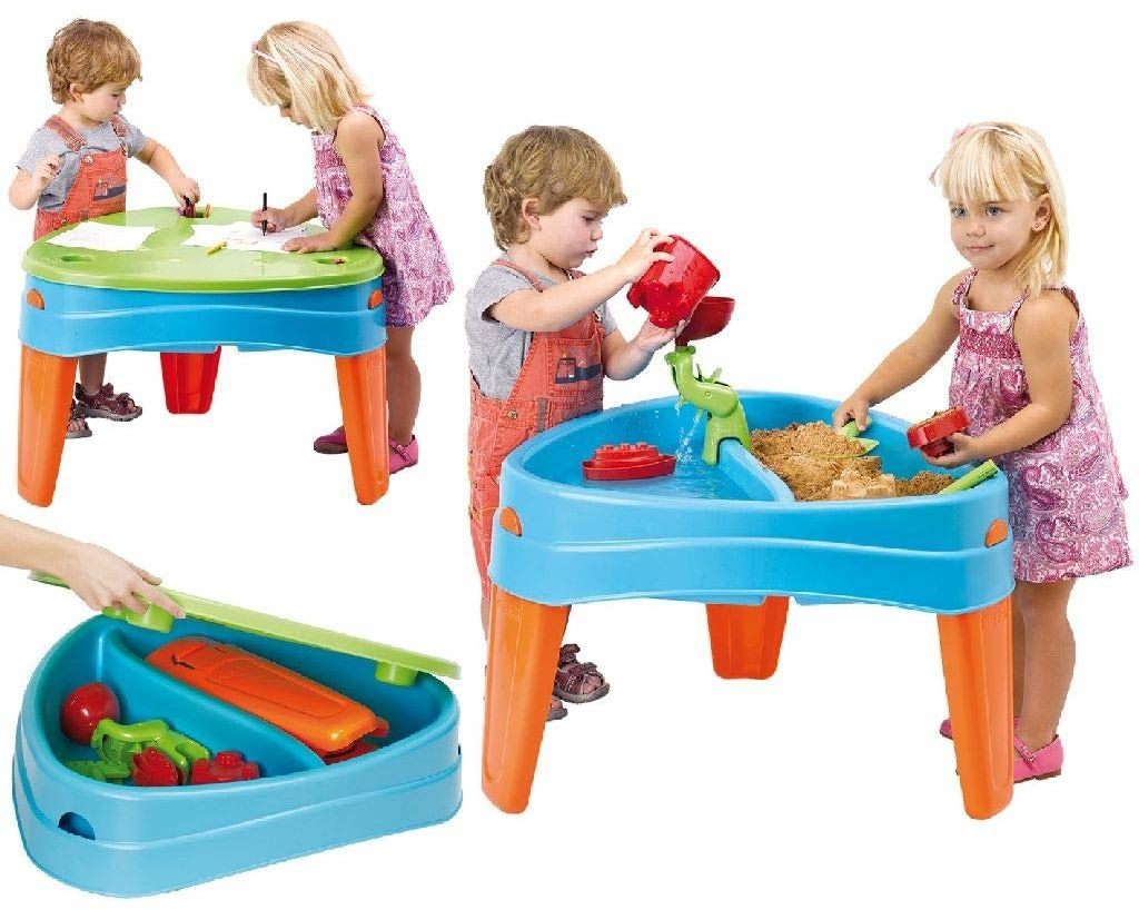 Feber Famosa 800010238 Play Island plac zabaw w wyspie, dla dzieci w wieku od 2 do 6 lat, niebieski