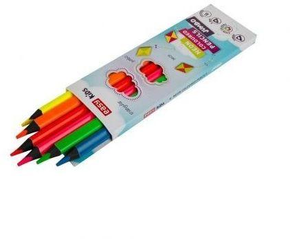Kredki ołówkowe trójkątne neonowe Jumbo 6 kolorów Easy 923767
