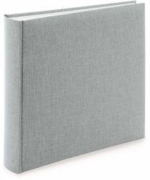goldbuch 31606 album na zdjęcia Summertime Trend 2, fotoksiążka ze 100 białymi stronami z pergaminem, album fotograficzny z lnianą oprawą, do 600 zdjęć, wysokiej jakości papier, szary, 30 x 31 cm