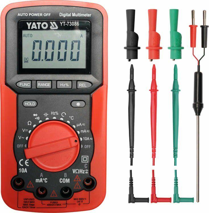 Multimetr/miernik cyfrowy, kolejność faz Yato YT-73086 - ZYSKAJ RABAT 30 ZŁ