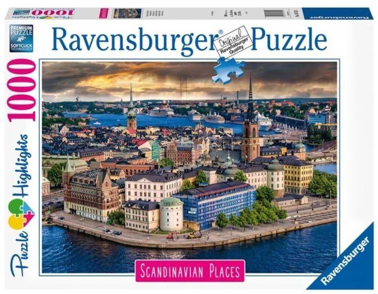 Puzzle 1000 Skandynawskie miasto widok - Ravensburger