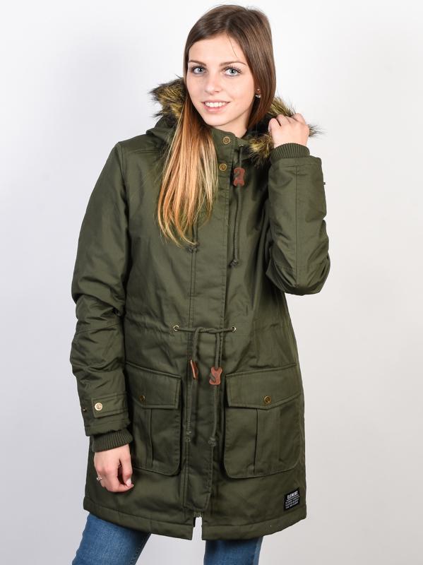Element ENDURE MOSS GREEN kurtka zimowa kobiety - XS