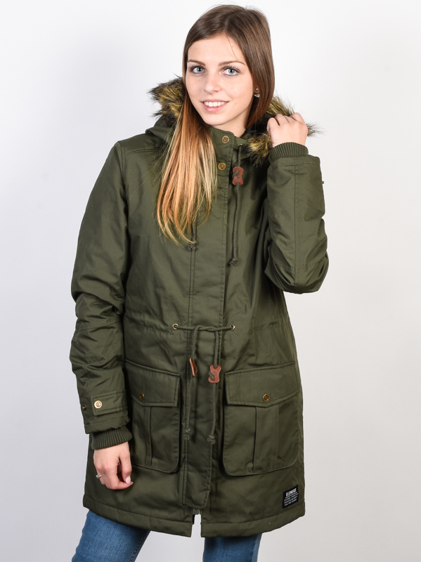 Element ENDURE MOSS GREEN kurtka zimowa kobiety