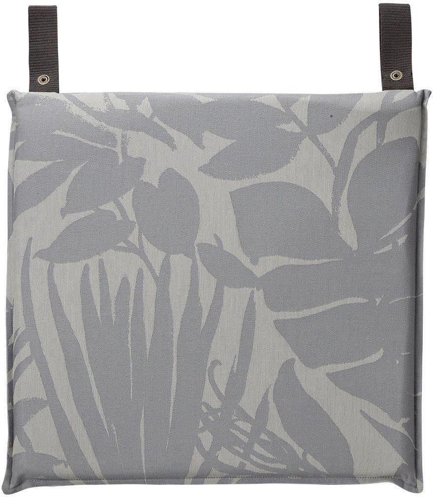 Poduszka na krzesło powlekana Le Jacquard Fran ais Bahia - 3 kolory - Grey