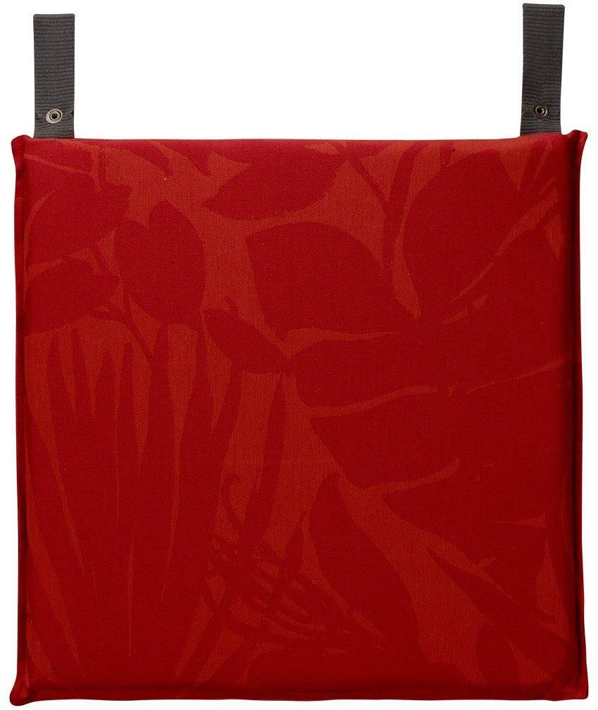 Poduszka na krzesło powlekana Le Jacquard Fran ais Bahia Red