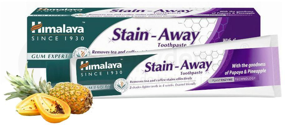 HIMALAYA Stain-Away - pasta do zębów usuwająca uporczywe przebarwienia