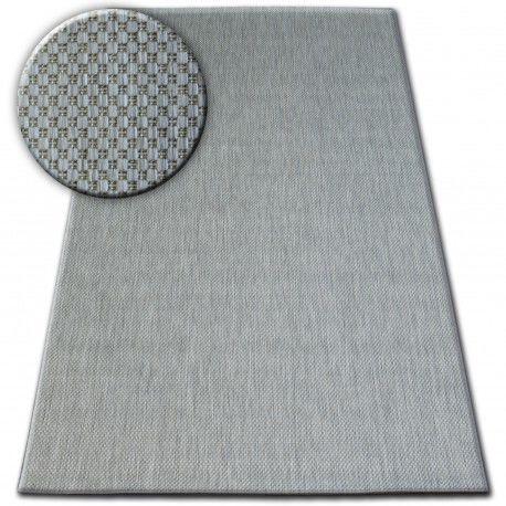 Dywan SZNURKOWY SIZAL FLAT 48663/037 srebrny GŁADKI 80x150 cm