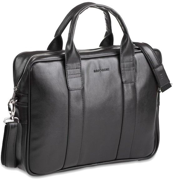 Casual torba męska na ramię laptop czarna b01