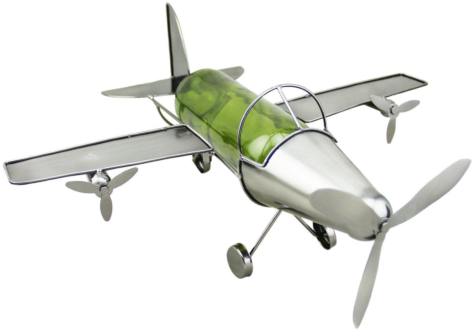 Class Wine Uchwyt na butelkę, metalowy samolot żeglarski, stal nierdzewna, 25 x 30 x 45 cm