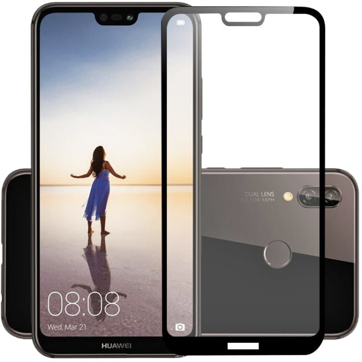 Szkło hartowane 5D FULL GLUE Huawei P20 Lite