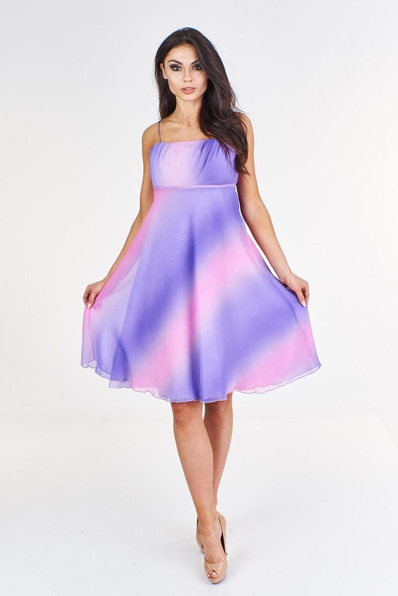 Sukienka FSU117 WRZOSOWY RÓŻOWY