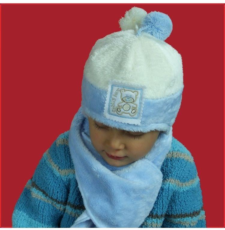 Przyjemna zimowa czapka dla chłopca 42-46 Eryk