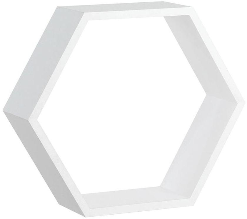 Półka ścienna HEXAGON Biała 30 x 26 cm SPACEO