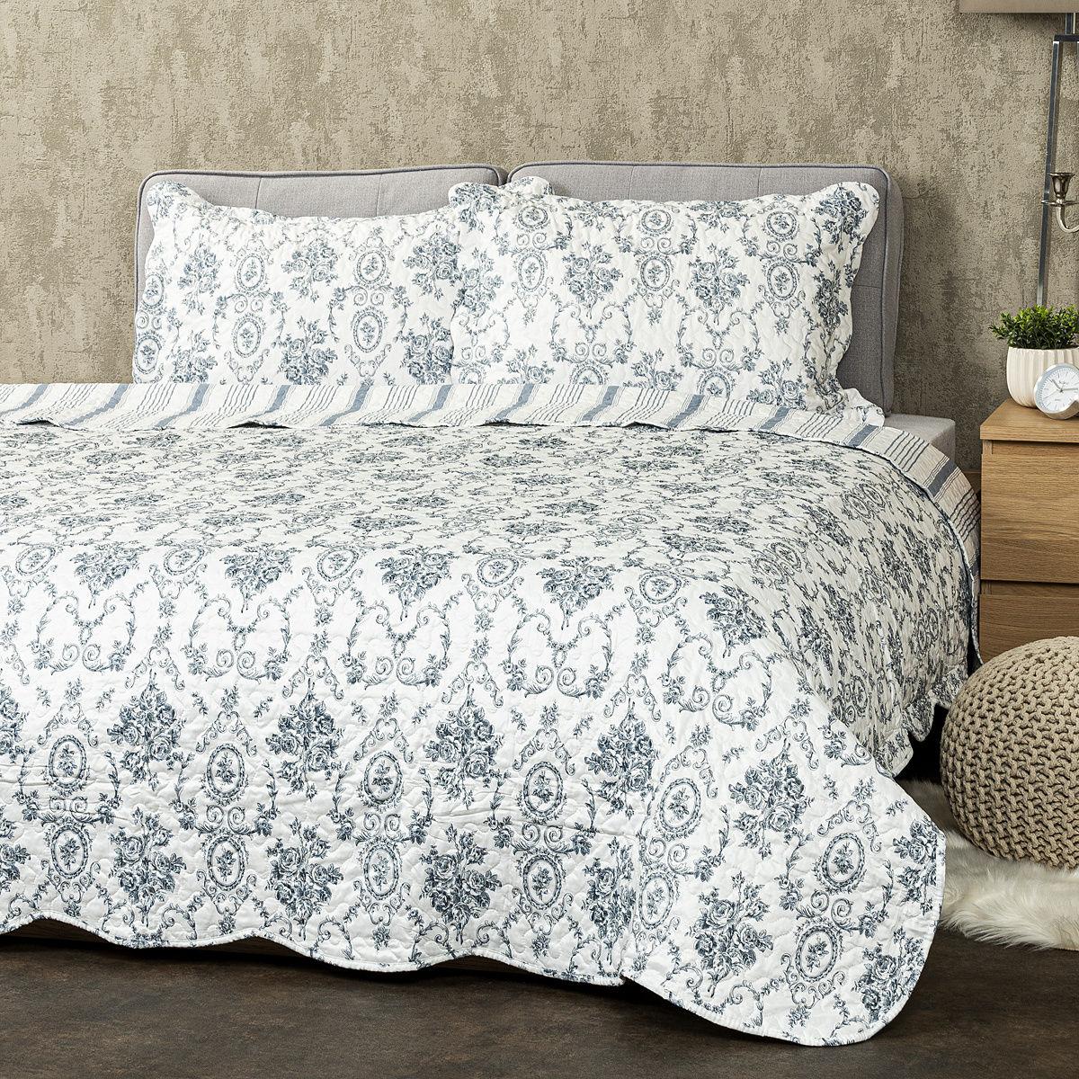 4Home Narzuta na łóżko Blue Patrones
