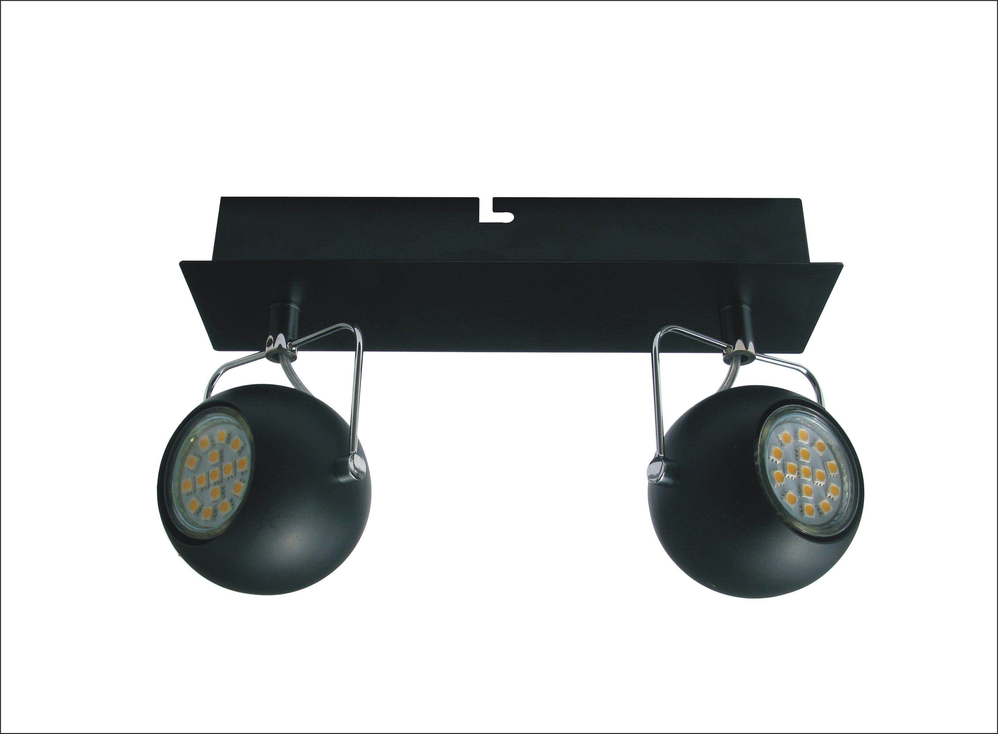 Candellux TONY 92-25012 oprawa oświetleniowa czarny mat metalowy klosz 2X3W LED GU10 25cm
