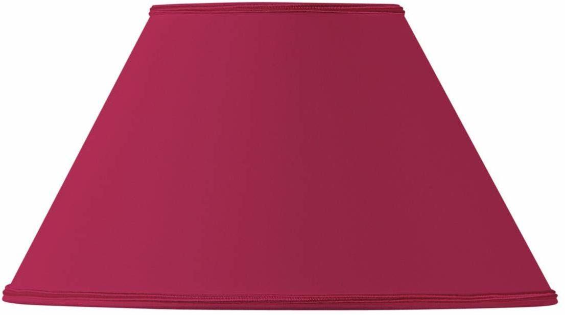 Klosz lampy w kształcie wiktoriańskim, 20 x 09 x 12 cm, burgundowa czerwień