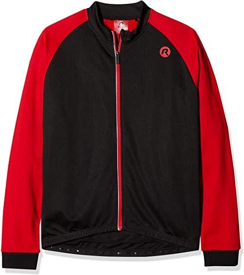 Rogelli Męski Caluso 2.0 koszulka rowerowa z długim rękawem, czarny/czerwony, L
