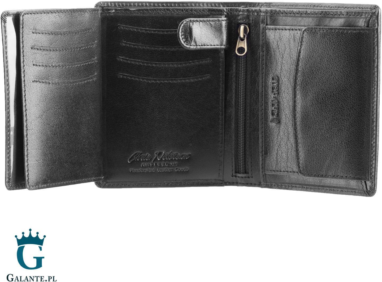 Czarny portfel męski z rfid peterson 339