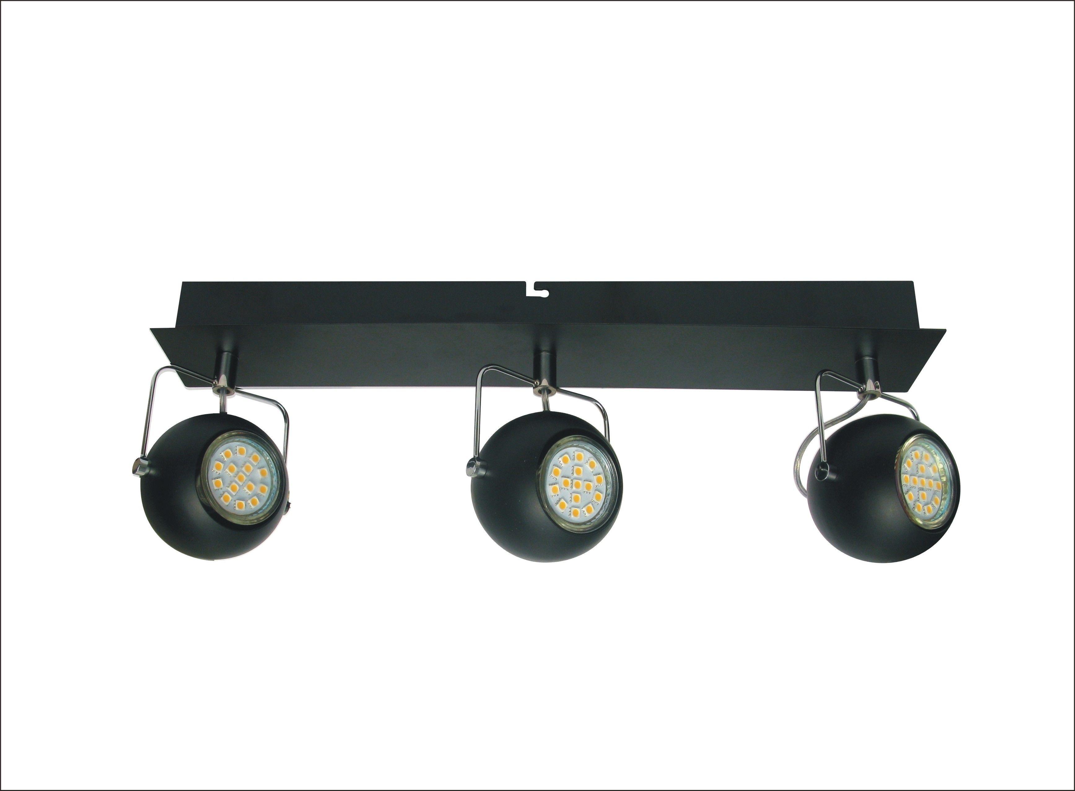 Candellux TONY 93-25029 listwa oświetleniowa czarny mat metalowy klosz 3X3W LED GU10 43cm