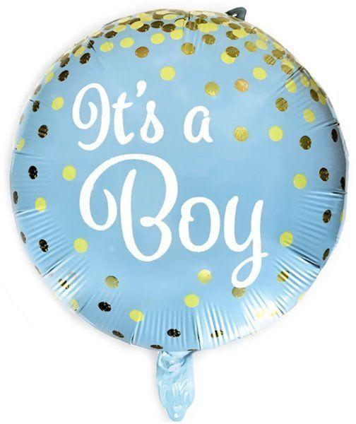 Balon foliowy It''s a boy 45cm okrągły niebieski 460150