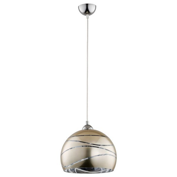 Lampa wisząca zwis NARVI srebrna śr. 30cm