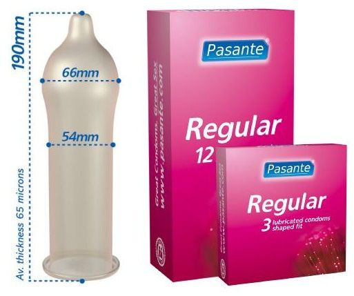 Anatomiczne prezerwatywy pasante 3 sztuki regular