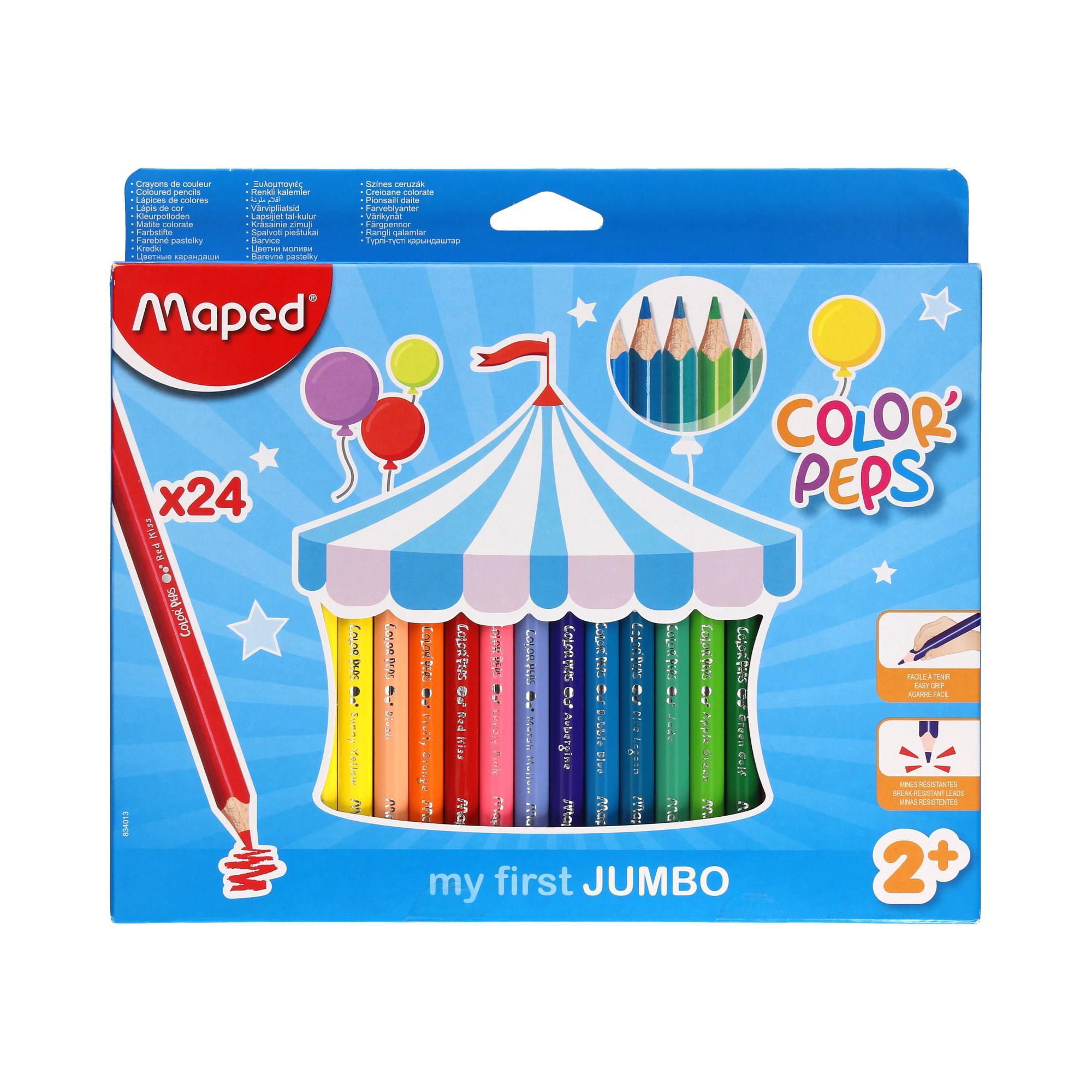 Kredki ołówkowe dla maluszków 24kol Jumbo trójkątne Maped 834013