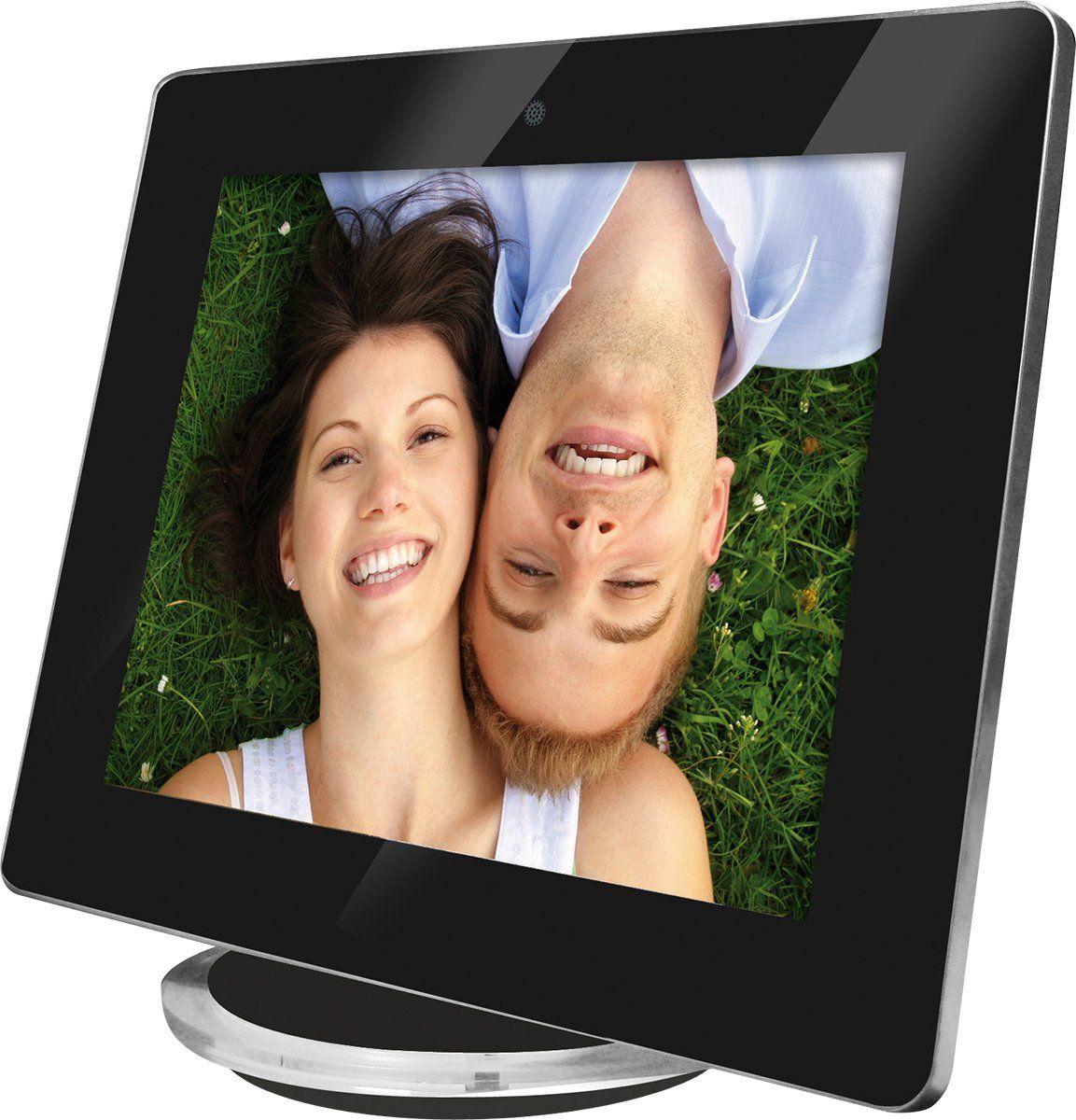 Rollei Designline cyfrowa ramka na zdjęcia (20,32 cm (8 cali), wbudowane głośniki stereo, stacja dokująca) czarna