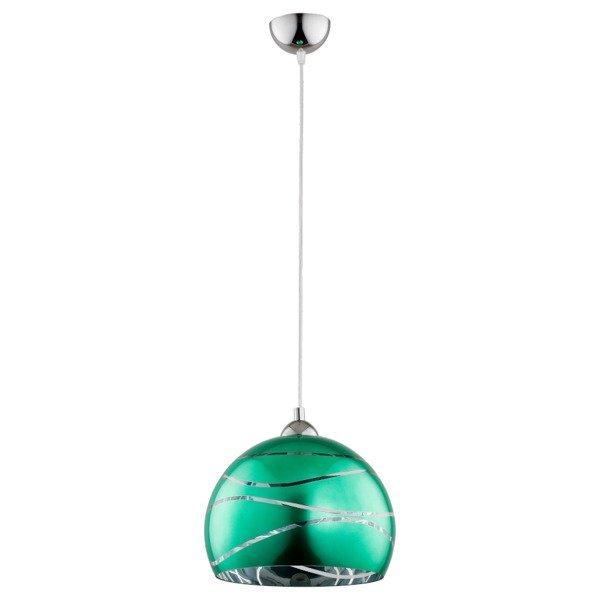 Lampa wisząca zwis NARVI zielona śr. 30cm