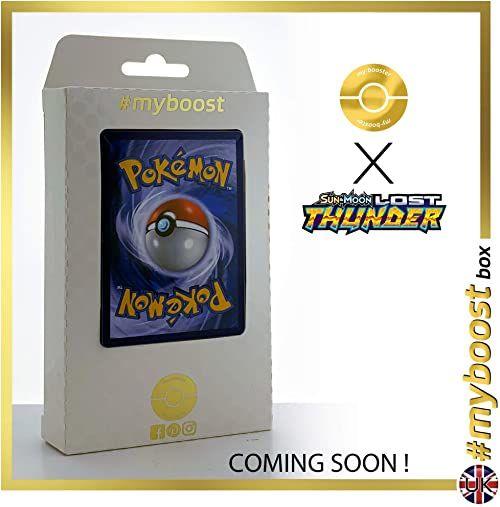 Pyroar (Pyroleo) 51/214 & Lanturn 74/214 - #tooboost X Sun & Moon 8 Lost Thunder - pudełko z 10 angielskimi kartami Pokémon + 1 Goodie Pokémon