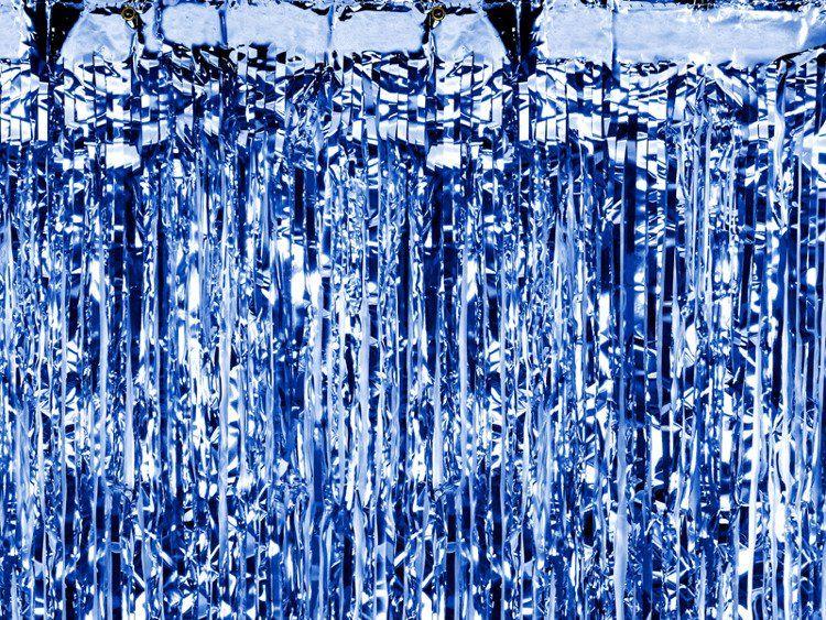 Kurtyna Party niebieska 90 x 250 cm 1szt. CRT-001