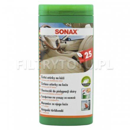 SONAX Chusteczki do pielęgnacji skóry 25 szt. (412300)